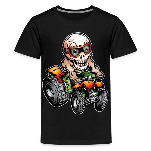 Off-Road ATV Skull Rider - Kids' Premium T-Shirt