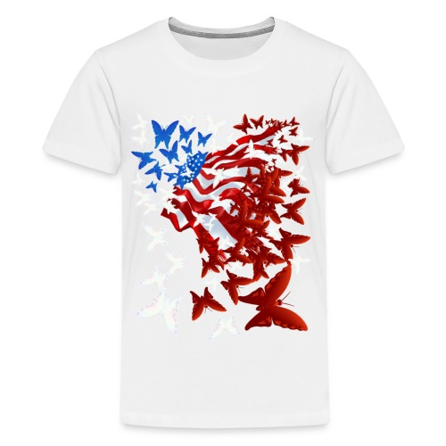 The Butterfly Flag - Kids' Premium T-Shirt