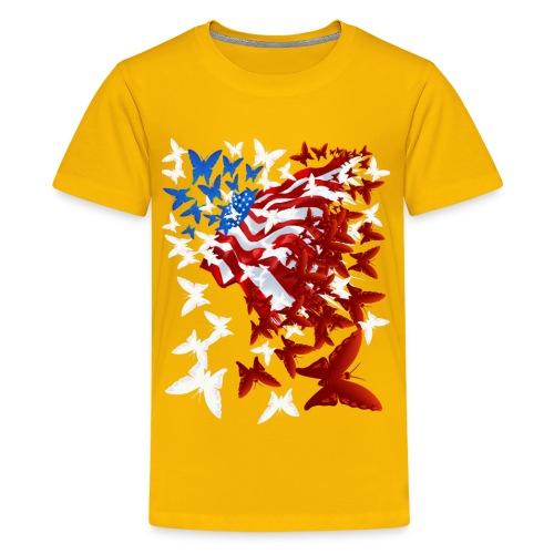 The Butterfly Flag - Kids' Premium T-Shirt