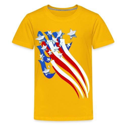 Sweeping Old Glory - Kids' Premium T-Shirt