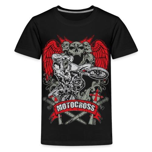 Motocross Extreme Tattoo - Kids' Premium T-Shirt
