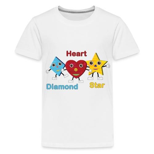 Diamond, Heart, Star - Kids' Premium T-Shirt