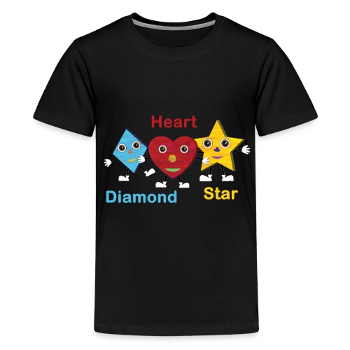 Diamond, Heart, Star - Kids' Premium T-Shirt