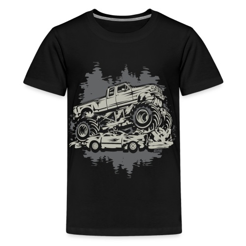 Monster Truck Grunge - Kids' Premium T-Shirt