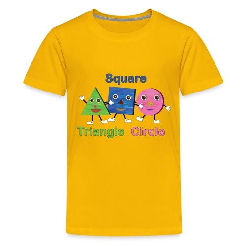 Triangle, Square, Circle - Kids' Premium T-Shirt
