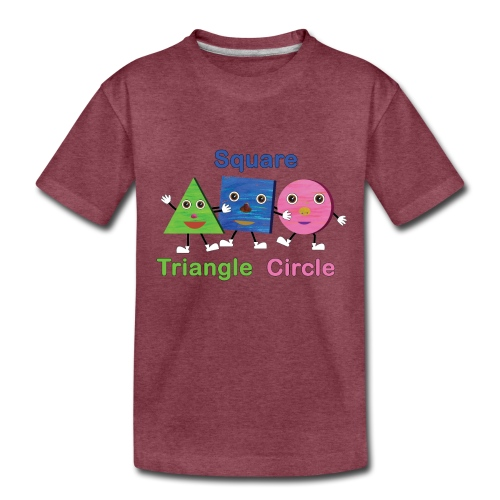 Triangle, Square, Circle - Kids' Premium T-Shirt