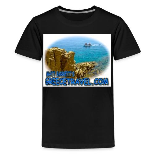 GREECETRAVEL MYKONOS BOAT jpg - Kids' Premium T-Shirt