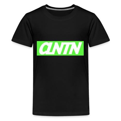 Green Box White Text png - Kids' Premium T-Shirt
