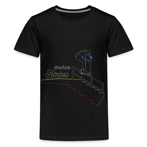 Stairs Sliders Techno - Kids' Premium T-Shirt