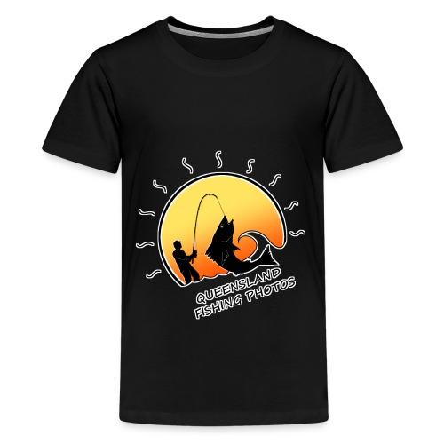 qld fishing logo - Kids' Premium T-Shirt