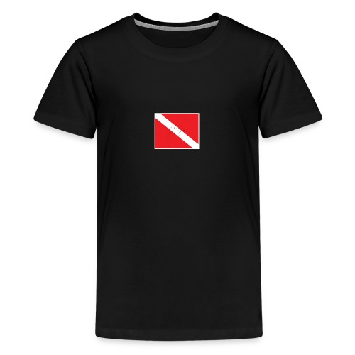 Scuba Diver Down Flag Distressed Look - Kids' Premium T-Shirt