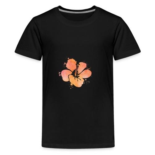 Hibiscus Watercolor Design - Kids' Premium T-Shirt
