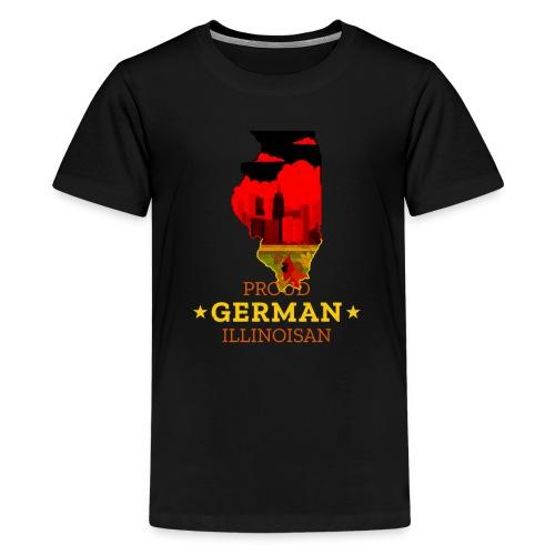 Proud German Illinoisan - Illinois State Pride - Kids' Premium T-Shirt