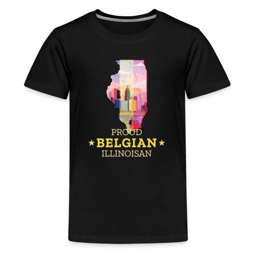 Proud Belgian Illinoisan - Illinois State Pride - Kids' Premium T-Shirt