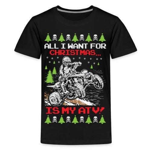 Ugly Christmas ATV Quad - Kids' Premium T-Shirt