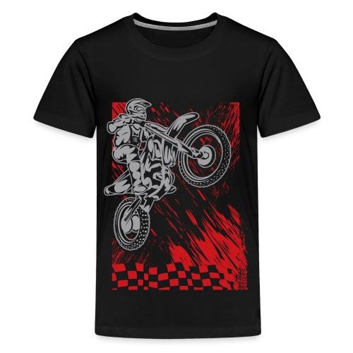 Motorsports Race Flag Deco - Kids' Premium T-Shirt