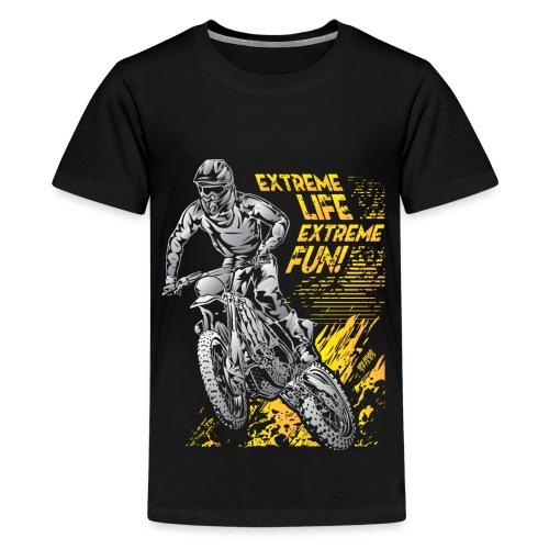 Extreme Life Motorcycle - Kids' Premium T-Shirt