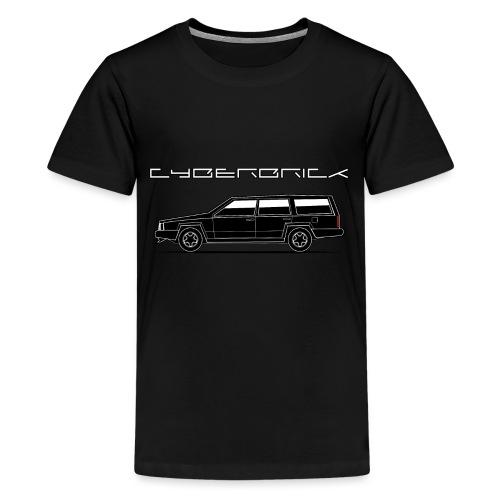 Cyberbrick Future Electric Wagon Black Outlines - Kids' Premium T-Shirt