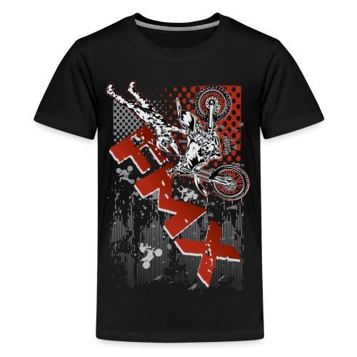 FMX Dirt Biker Red - Kids' Premium T-Shirt