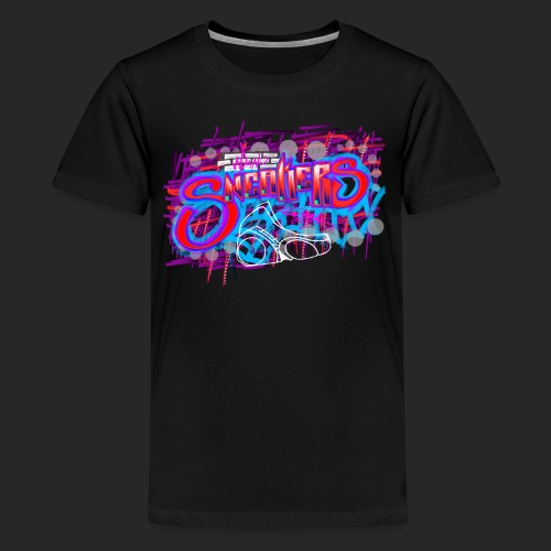 Sneakers Graffiti Design - Kids' Premium T-Shirt