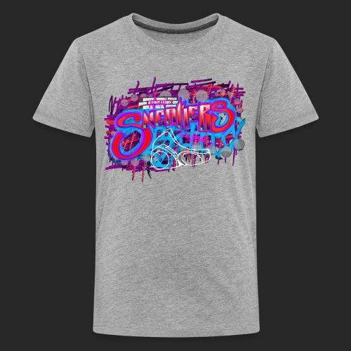 Sneakers Graffiti Design - Kids' Premium T-Shirt