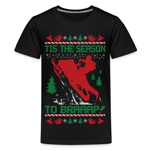 Snowmobile Ugly Christmas - Kids' Premium T-Shirt