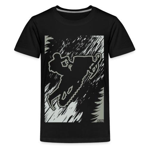 Snowmobiling Forest Run - Kids' Premium T-Shirt