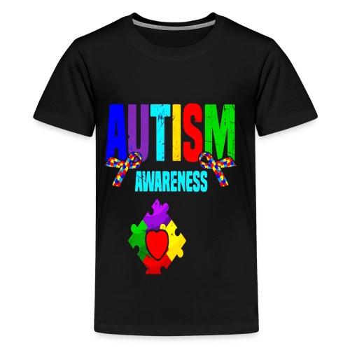 Autism Awareness 2019 Tshirt Autism Puzzle Tee - Kids' Premium T-Shirt