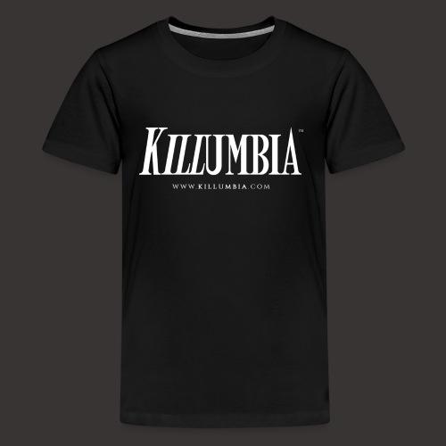 Killumbia Logo - White - Kids' Premium T-Shirt
