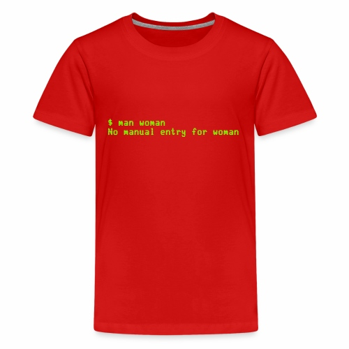 man woman. No manual entry for woman - Kids' Premium T-Shirt
