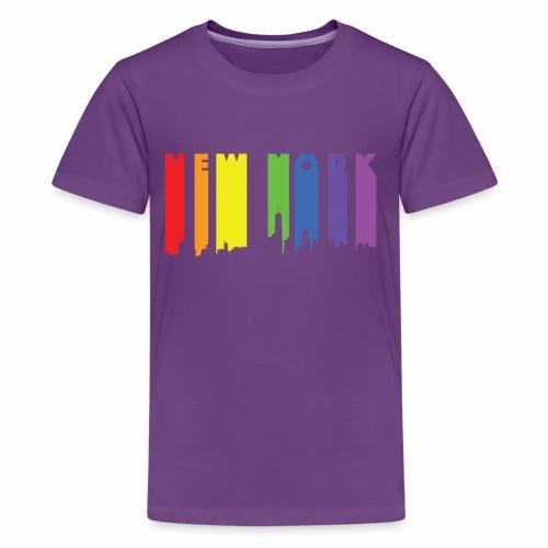 New York design Rainbow - Kids' Premium T-Shirt