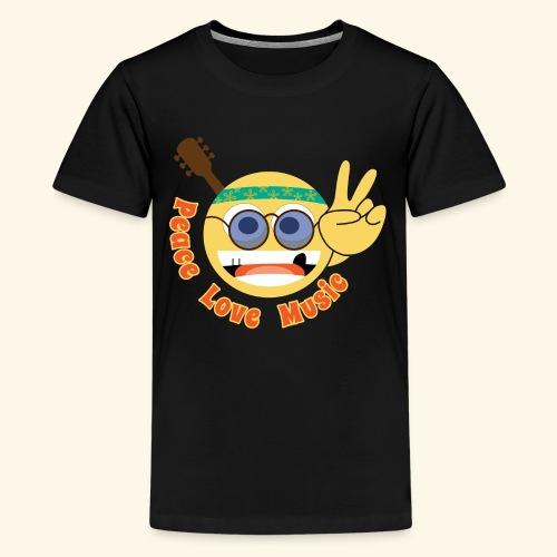 Peace love music hippie smiley - Kids' Premium T-Shirt