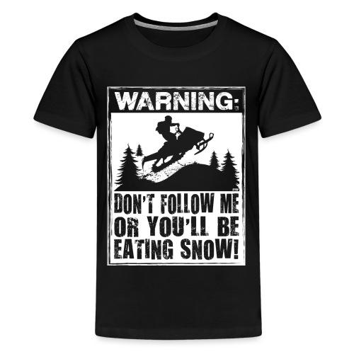 Snowmobile Warning - Kids' Premium T-Shirt