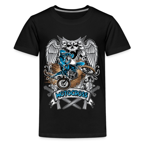 Heraldic Motocross Blue - Kids' Premium T-Shirt