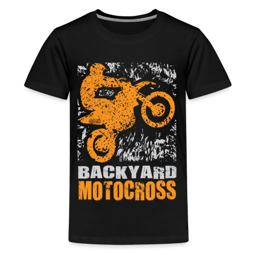 Motocross Backyard Orange - Kids' Premium T-Shirt