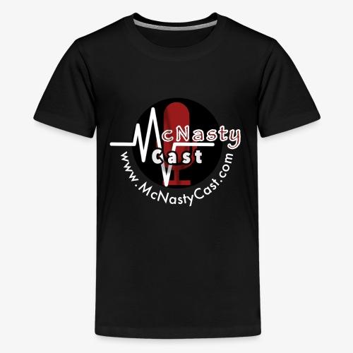 MC Logo with Web Address White - Kids' Premium T-Shirt