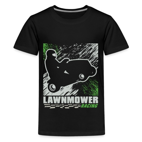 Lawnmower Racing Abstract - Kids' Premium T-Shirt