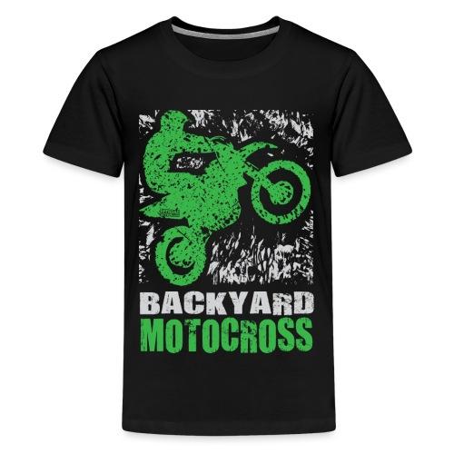 Motocross Backyard Green - Kids' Premium T-Shirt