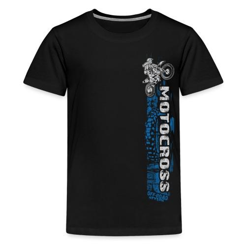 Motocross Side Panel Blue - Kids' Premium T-Shirt