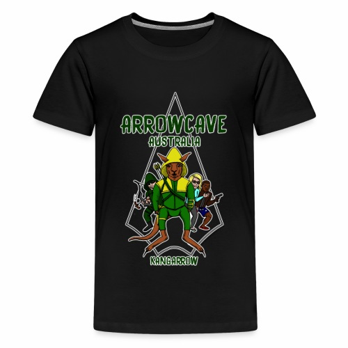 Arrow Cave Logo - Dark - Kids' Premium T-Shirt