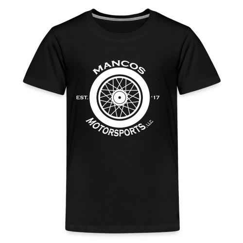 Mancos Motorsports LLC Logo in White - Kids' Premium T-Shirt