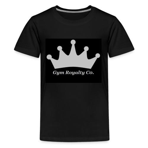 Gym Royalty Co Silver Logo - Kids' Premium T-Shirt