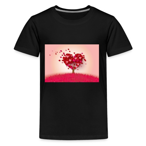 Heart Love Tree - Kids' Premium T-Shirt