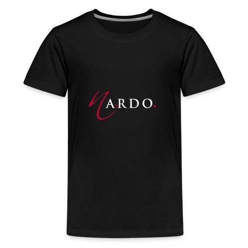 NardoLogoFinal Trans White Letters - Kids' Premium T-Shirt
