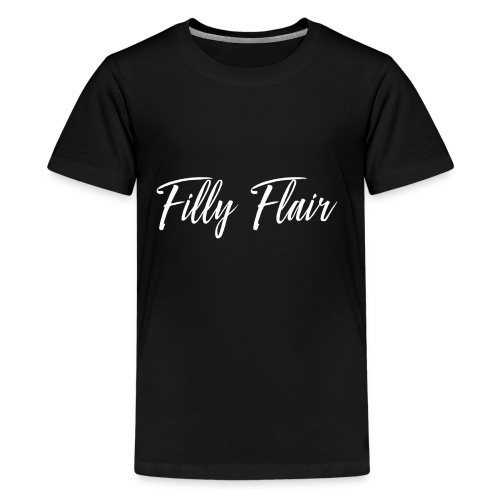 fillyflair white logo - Kids' Premium T-Shirt