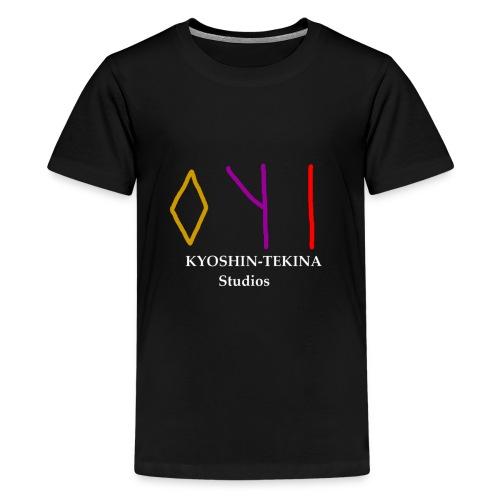 Kyoshin-Tekina Studios logo (white text) - Kids' Premium T-Shirt