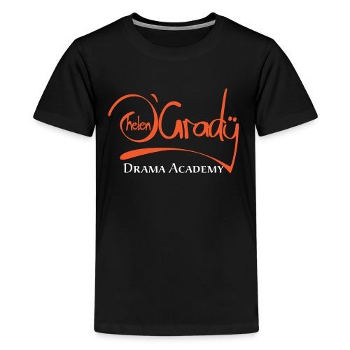 Helen O'Grady Orange Logo on Black - Kids' Premium T-Shirt