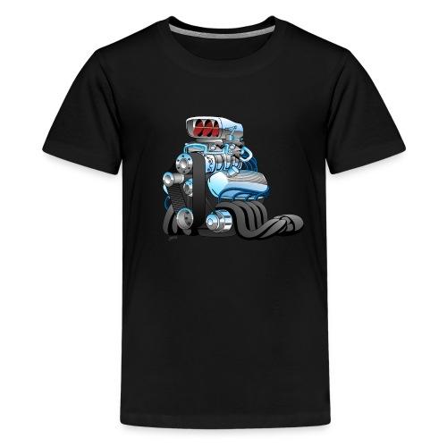 Hotrod Racing Car Engine Cartoon Illustration - Kids' Premium T-Shirt