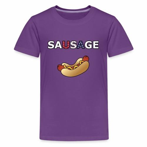 Patriotic BBQ Sausage - Kids' Premium T-Shirt
