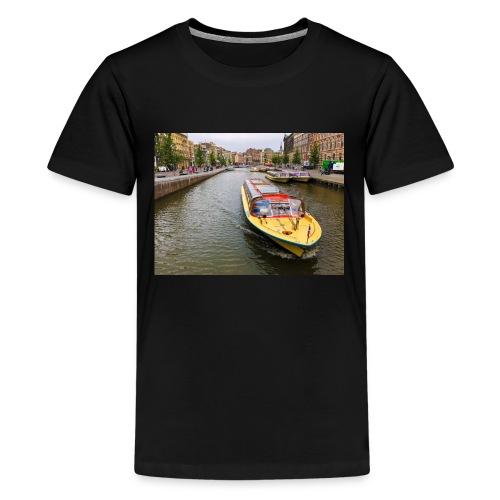 Boats in Amsterdam - Kids' Premium T-Shirt